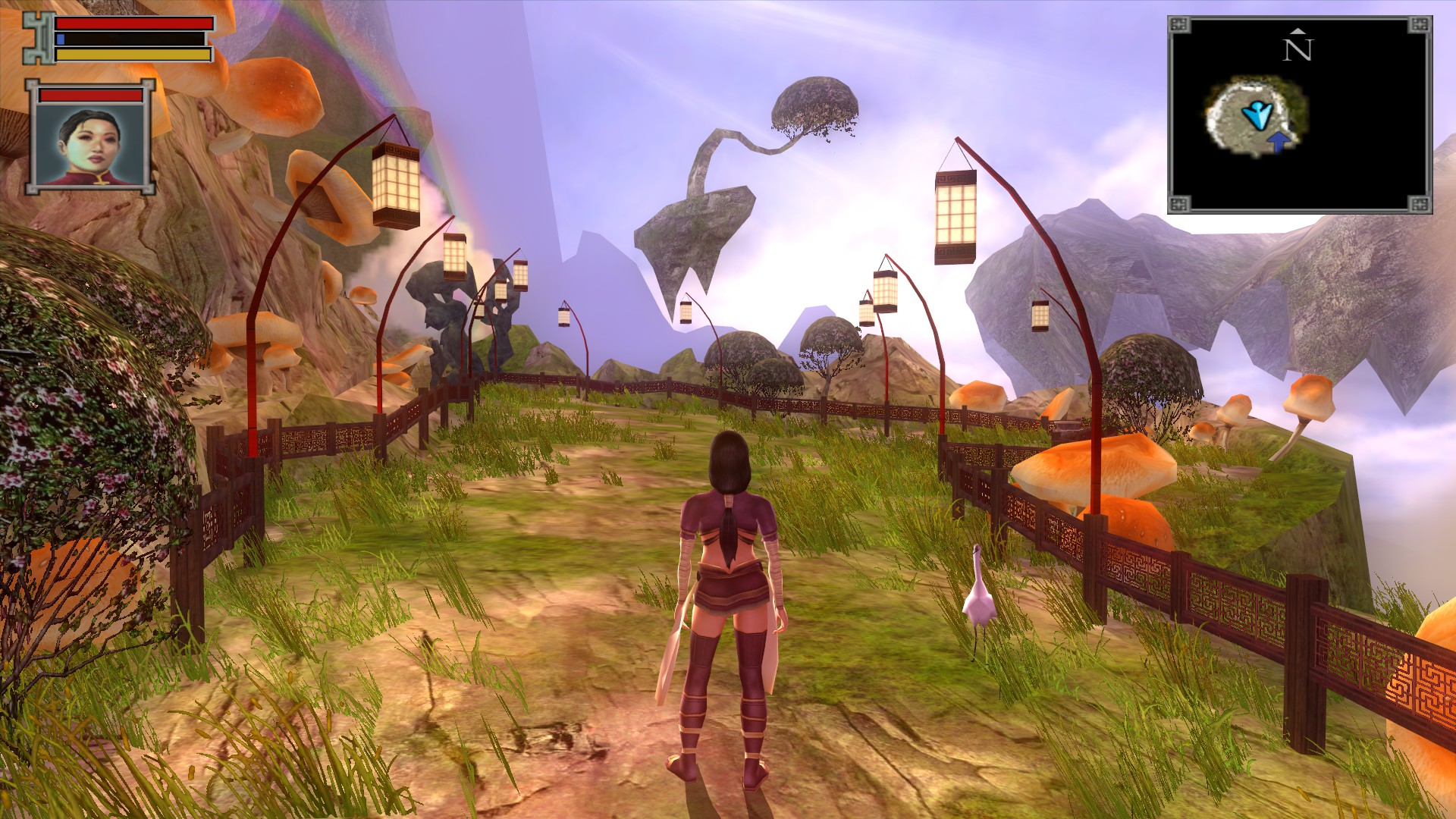 Jade Empire's world is a varied one, with great detail in its level design.