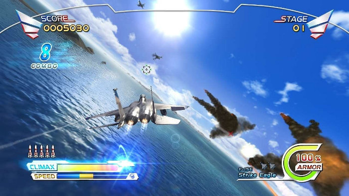 "Afterburner: Climax is lovely to look at feels ""just right"" to play."