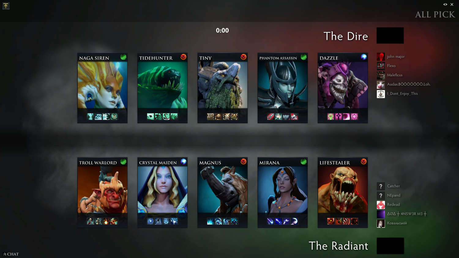 A fairly balanced draft for both teams, but late game was going to favour us.