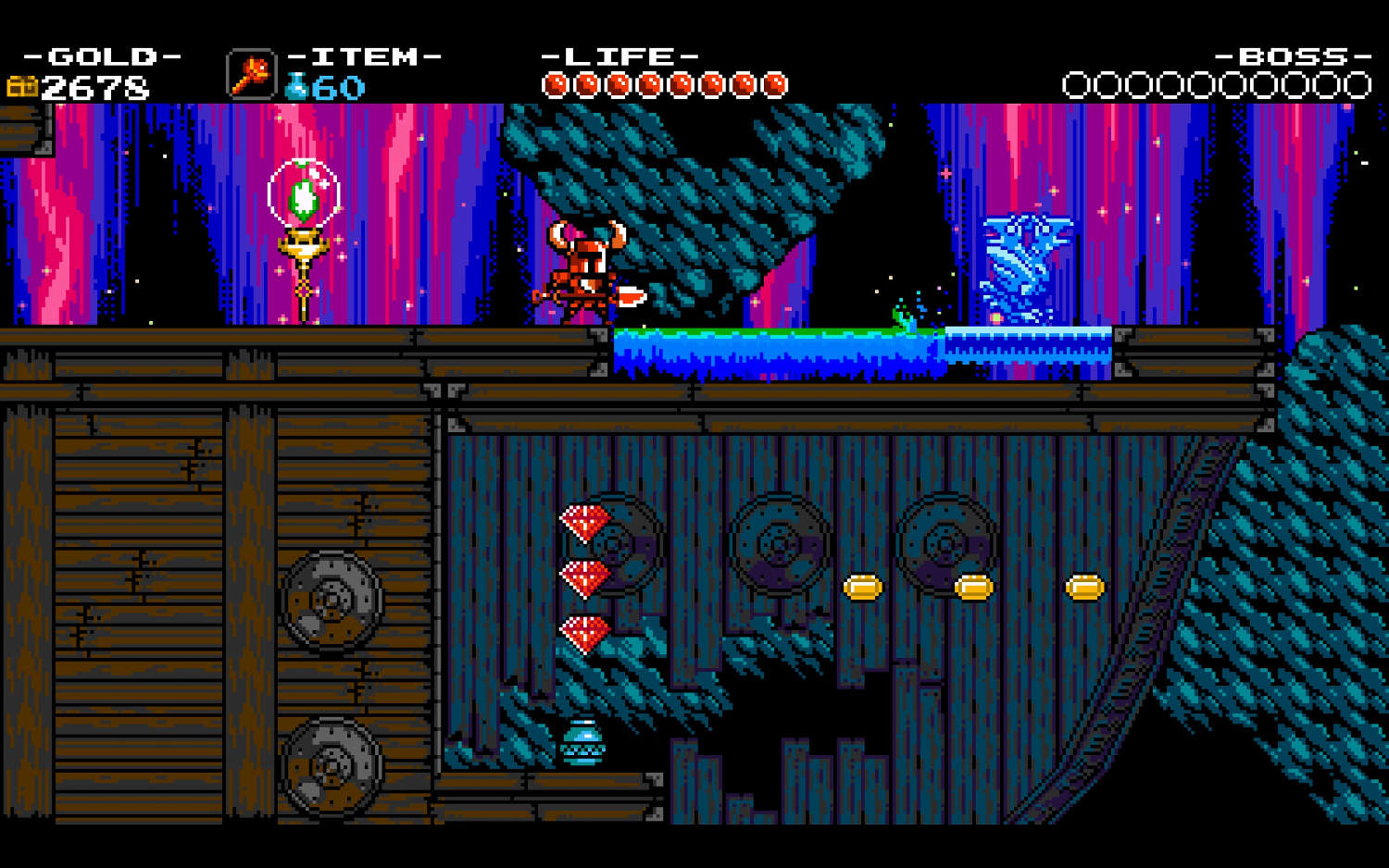 The UI of the game evokes nothing but classic Castlevania, but why tinker with time-proven design?